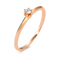Bague solitaire Or rose 585/14 ct. Diamant 0.05 ct-570599