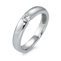 Bague solitaire Or blanc 585/14 ct. Diamant 0.15 ct-570605