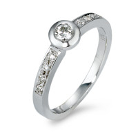 Bague solitaire Or blanc 585/14 ct. Diamant 0.25 ct