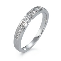 Bague solitaire Or blanc 750/18 ct. Diamant 0.20 ct-570819