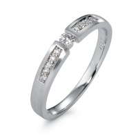 Bague solitaire Or blanc 750/18 ct. Diamant 0.13 ct-570820