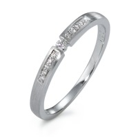 Bague solitaire Or blanc 750/18 ct. Diamant 0.07 ct-570821