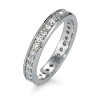 Memory Ring 750/18 K Weissgold Diamant 0.80 ct-570828