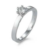 Bague solitaire Or blanc 750/18 ct. Diamant 0.30 ct-570832