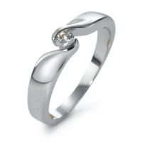 Bague solitaire Or blanc 750/18 ct. Diamant 0.10 ct-570859