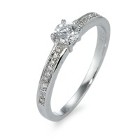 Bague solitaire Or blanc 750/18 ct. Diamant 0.45 ct-570866