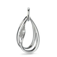 Pendentif Or blanc 750/18 ct. Diamant 0.06 ct-571049
