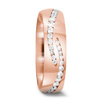 Bague d'amitié/Alliances Or rose 750/18 ct. Diamant 0.84 ct