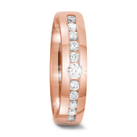 Bague d'amitié/Alliances Or rose 750/18 ct. Diamant 0.37 ct