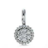 Pendentif Or blanc 750/18 ct. Diamant 0.26 ct Ø8 mm-573379