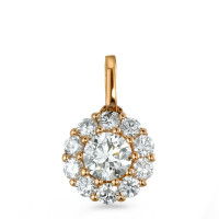 Pendentif Or rose 750/18 ct. Diamant 0.50 ct Ø7 mm-573381