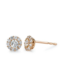 Clous d'oreilles Or rose 750/18 ct. Diamant 0.50 ct Ø6 mm-573382