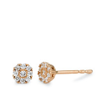 Clous d'oreilles Or rose 750/18 ct. Diamant 0.16 ct Ø4.5 mm-573392