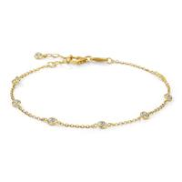 Bracelet Or jaune 750/18 ct. Zirconia 16-18 cm Ø3 mm-577427