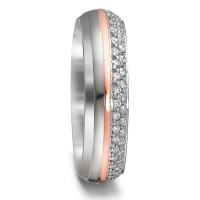 Bague d'amitié/Alliances Or blanc 375/9 ct., Or rose 375/9 ct. Diamant 0.4 ct-580705