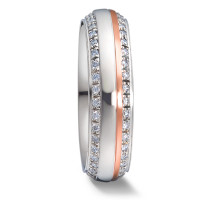 Bague d'amitié/Alliances Or blanc 375/9 ct., Or rose 375/9 ct. Diamant 0.4 ct-580707