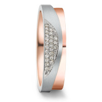 Bague d'amitié/Alliances Or rose 375/9 ct. Diamant 0.24 ct-581000