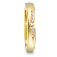Bague d'amitié/Alliances Or jaune 750/18 ct. Diamant 0.045 ct