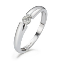 Bague solitaire Or blanc 750/18 ct. Diamant 0.15 ct-589818