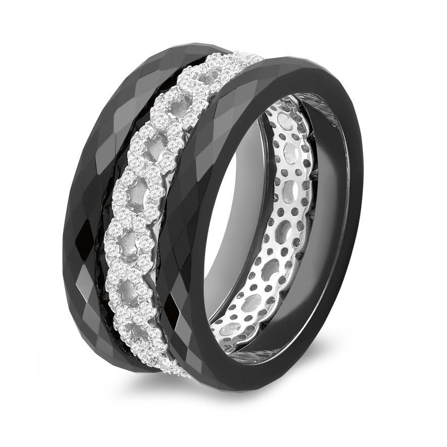 Image of 3 Ringe 925 + Keramik