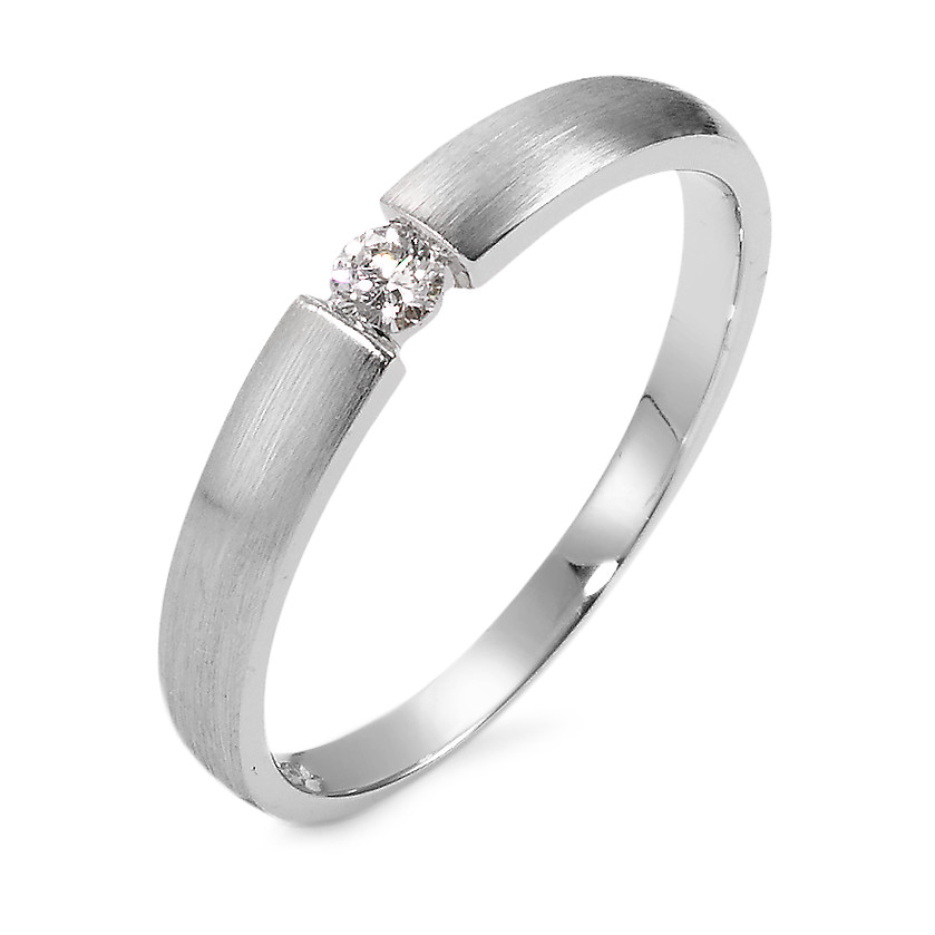 Bague solitaire Or blanc 750/18 ct. Diamant 0.06 ct-563001