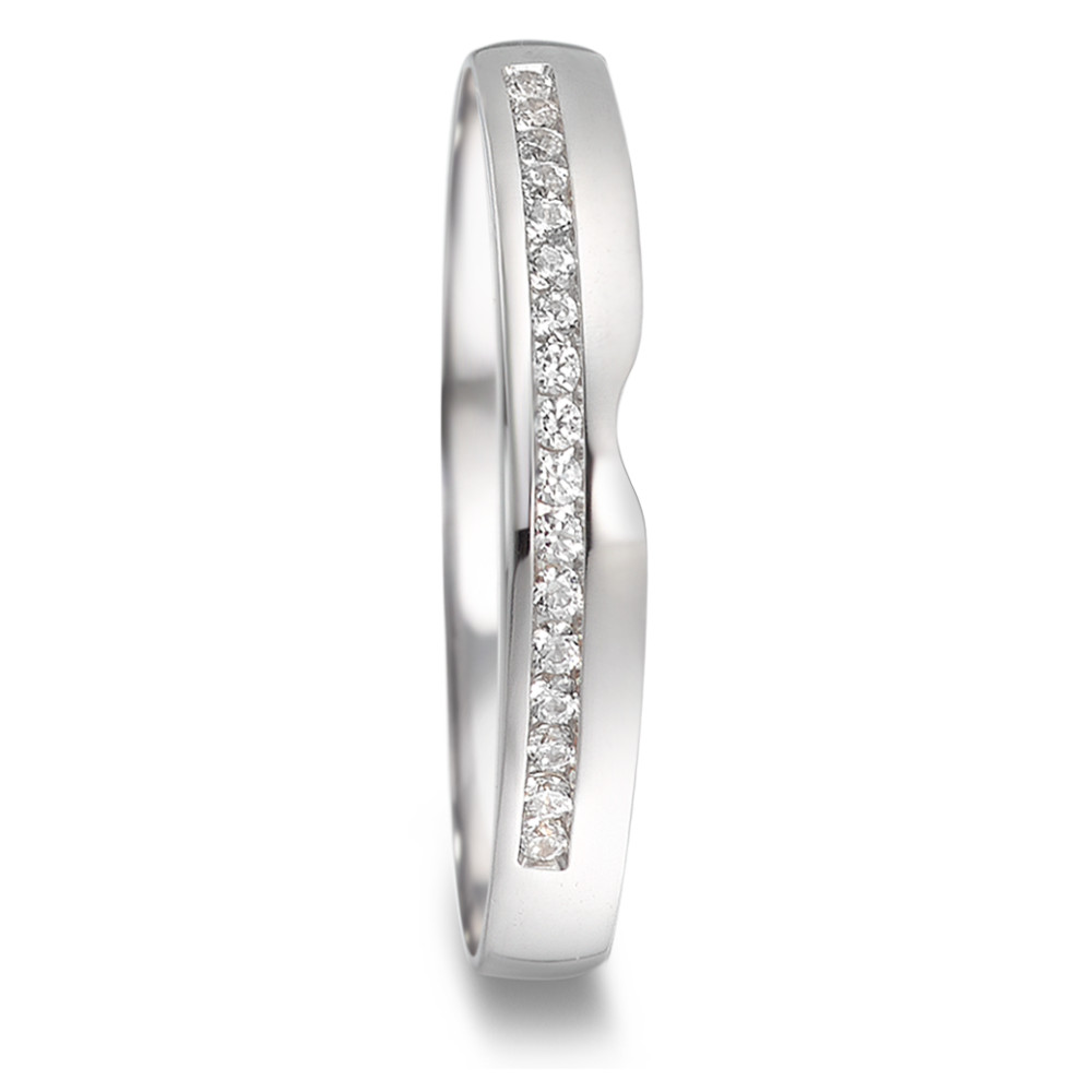 Bague d'amitié/Alliances Or blanc 750/18 ct. Diamant 0.085 ct-581812