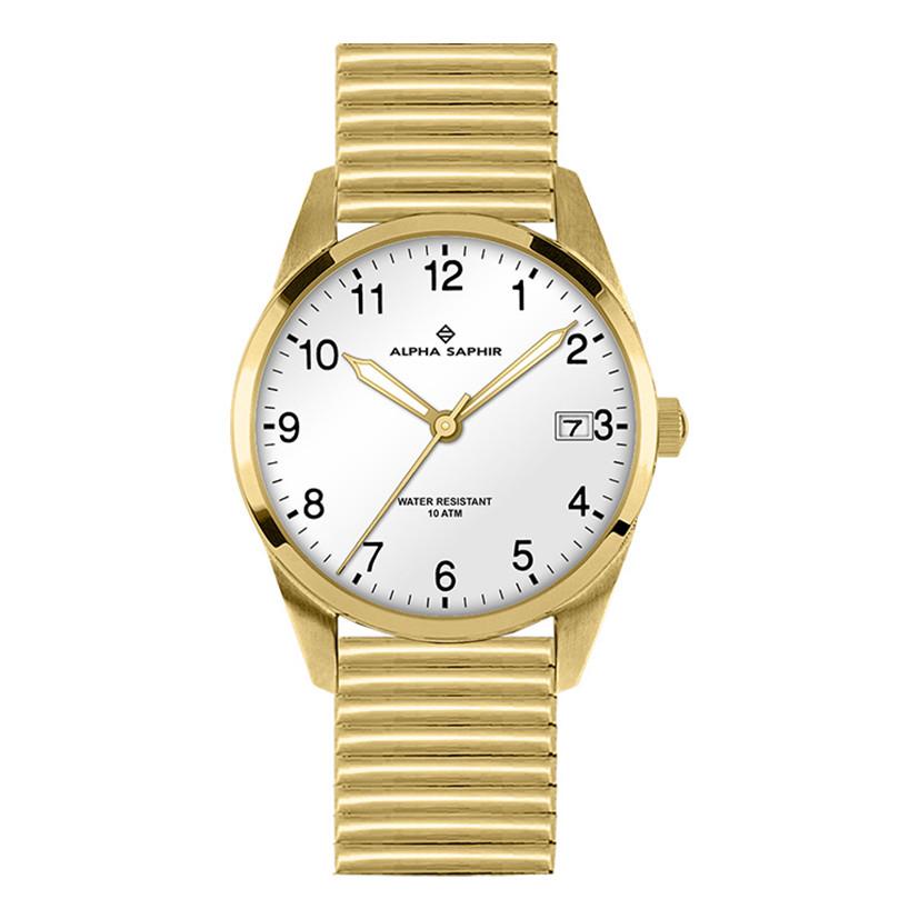 Image of Uhr Edelstahl gelb IP beschichtet Ø40 mm
