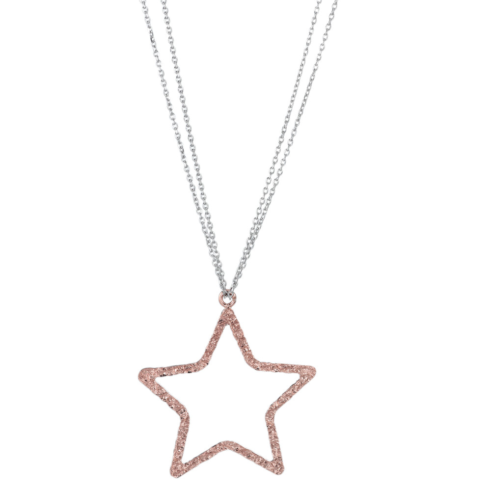 Collier Argent rosé bicolore 80 cm Ø35 mm-586600