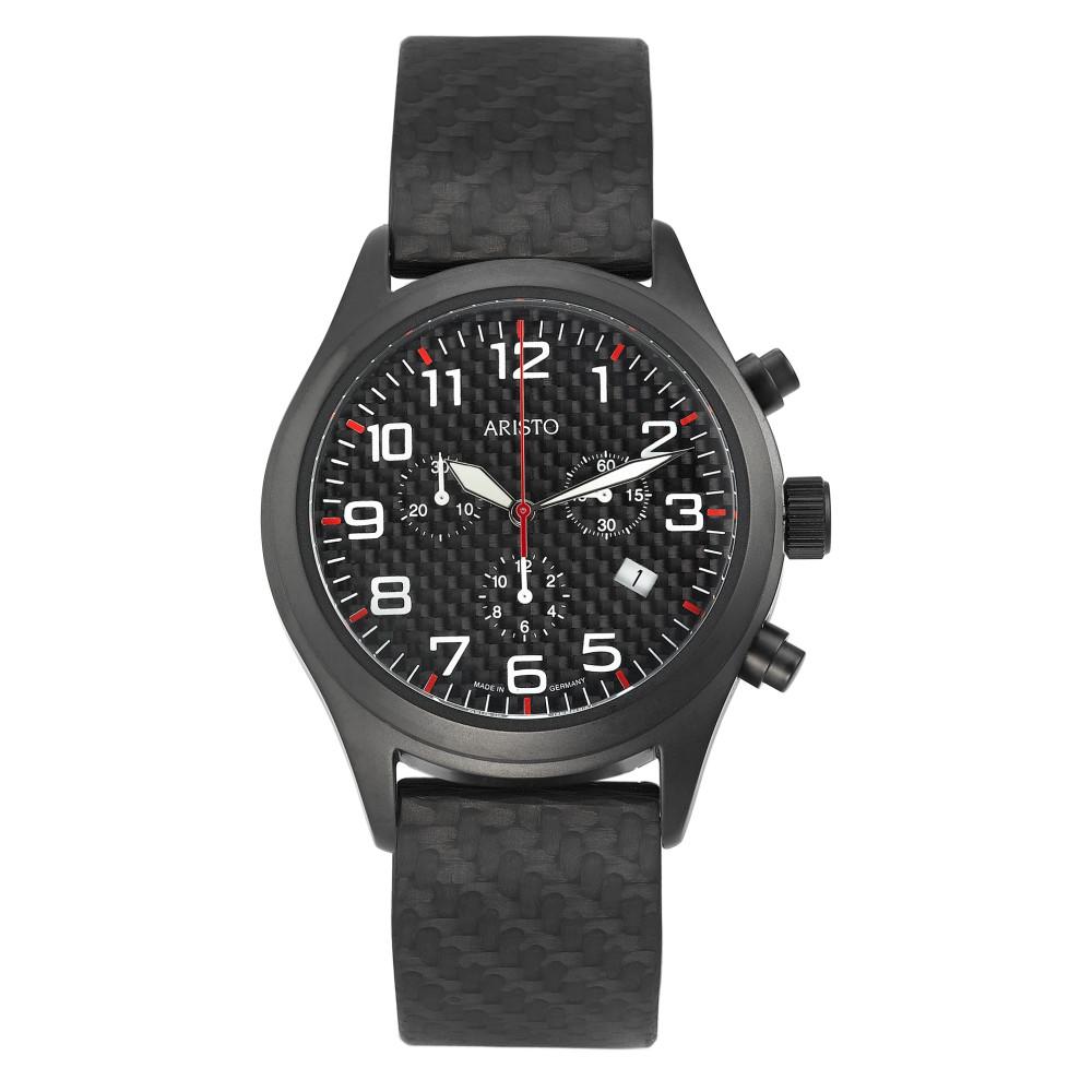 Image of Uhr Edelstahl, Carbon schwarz IP beschichtet Ø44 mm